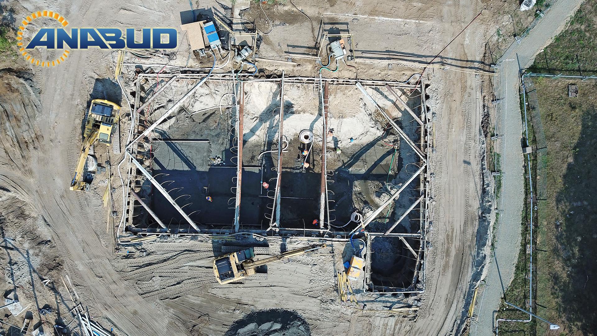 Wykopy z odwodnieniem pod budowę zbiornika retencyjnego