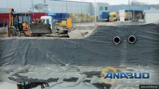 budowa uszczelnienie zbiornika retencyjnego geomembrana PEHD
