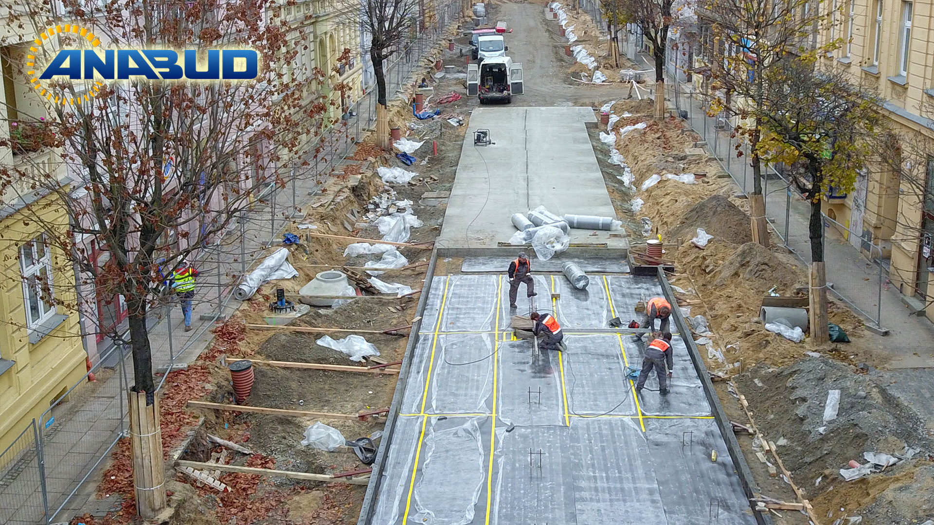 Prace przy przebudowie drogi i torowiska tramwajowego w Gorzowie Wielkopolskim