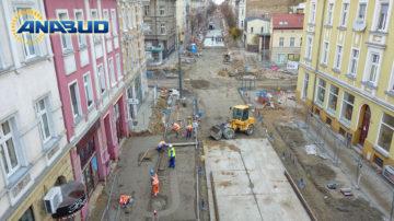 Przebudowa drogi i torowiska tramwajowego w Gorzowie Wielkopolskim.